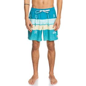 Quiksilver Word Block Volley 17 Shorts Men, azul